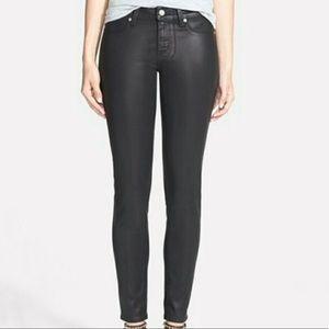[Paige] Black Silk Verdugo Ankle Skinny Jeans